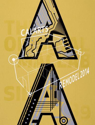 CalArts poster: MacLab Remodel by Jon Jacquet Kennis Wong Teal Gile