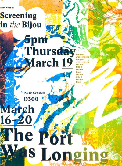 CalArts poster: The Port Was Longing by David Chathas