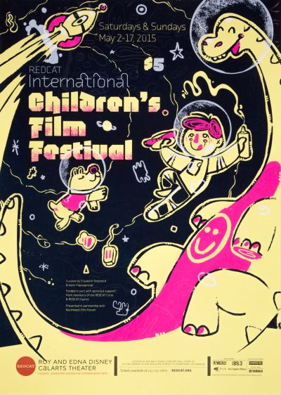 CalArts poster: REDCAT: 2015 Internation Children's Film Festival by Jon Jacquet Karen Hong