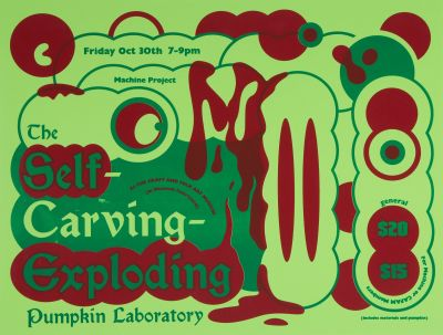 CalArts poster: The Self-Carving Exploding Pumpkin Laboratory by Karen Hong Sohee Kim