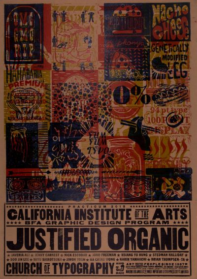 CalArts poster: 2016 Letterpress Workshop by