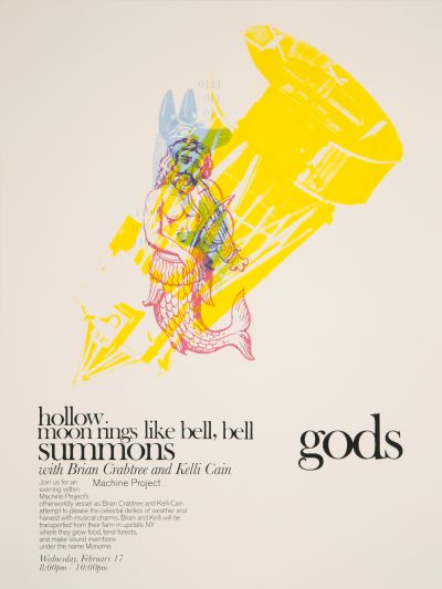CalArts poster: Machine Projects: Summons Gods by Yinchen Niu