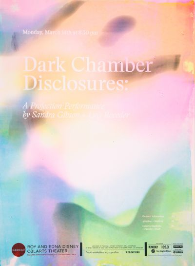 CalArts poster: REDCAT: Dark Chamber Disclosures by Monique Wilmoth Ran Park