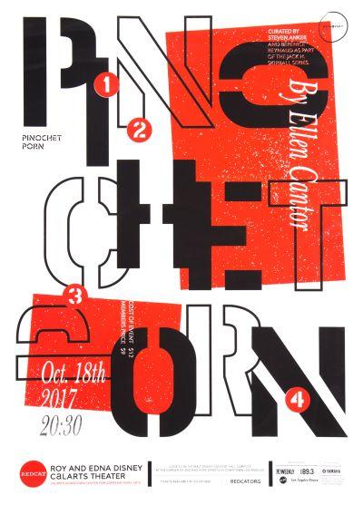 CalArts poster: REDCAT: Pinochet Porn by Junki Hong
