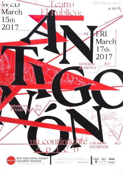 CalArts poster: REDCAT: Antigonon by Sohee Kim [II]