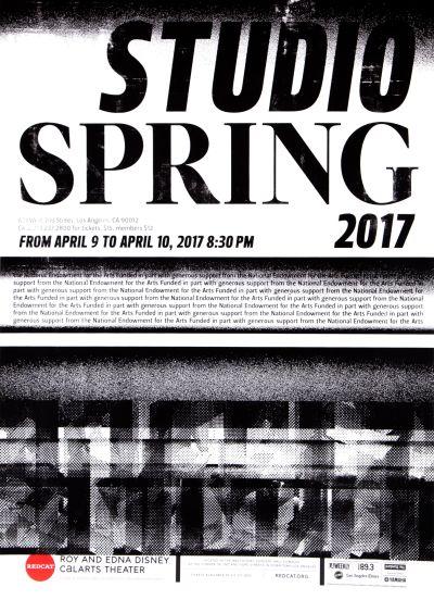 CalArts poster: REDCAT: 2017 Studio Spring by Erasmo Tapia Hui Yeon Hwang