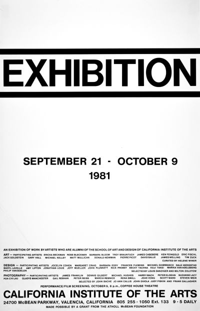 CalArts poster: Exhibition by