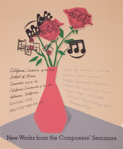 CalArts poster: New Works from the Composers' Seminars by