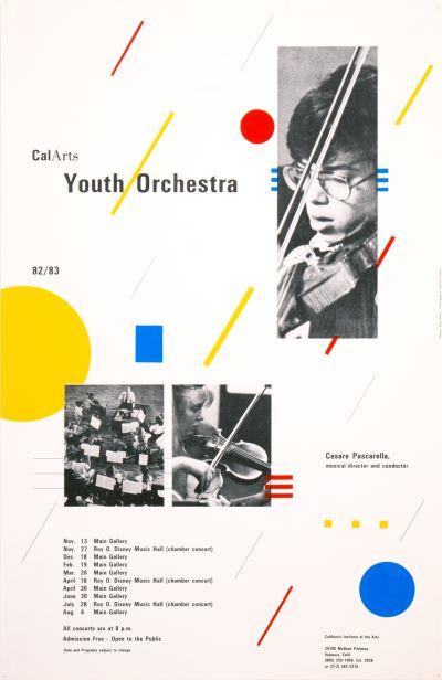 CalArts poster: CalArts Youth Orchestra by Robert Burns