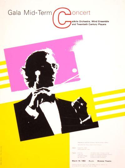 CalArts poster: Gala Mid-Term Concert by Robert Burns