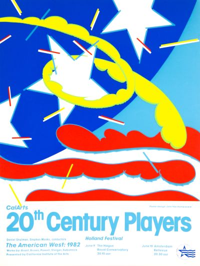 CalArts poster: CalArts 20th Century Players by John Van Hamersveld