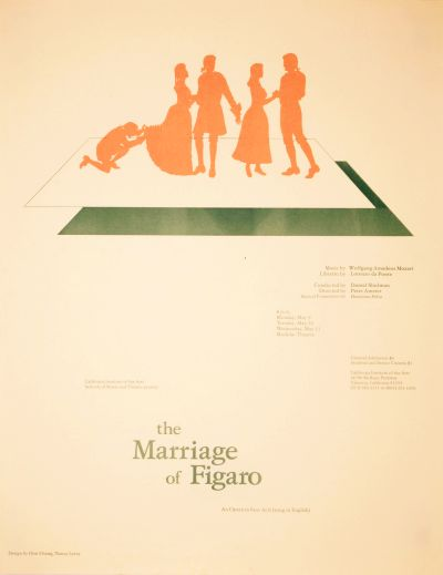 CalArts poster: the Marriage of Figaro by Don Chang Nancy Levey
