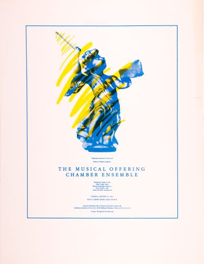 CalArts poster: The Musical Offering: Chamber Ensemble by