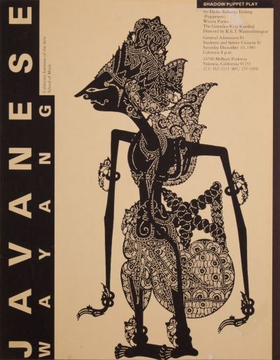 CalArts poster: Javanes Wayang: Shadow Puppet Play by