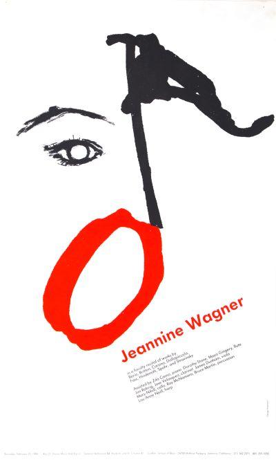CalArts poster: Jeannine Wagner by Kevin Hosmann