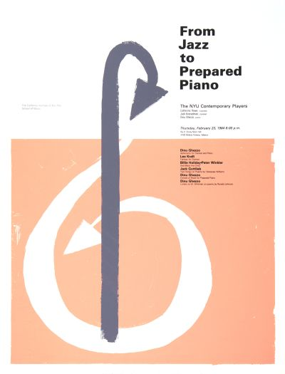 CalArts poster: From Jazz to Prepared Piano by Annalisa Gumbrecht