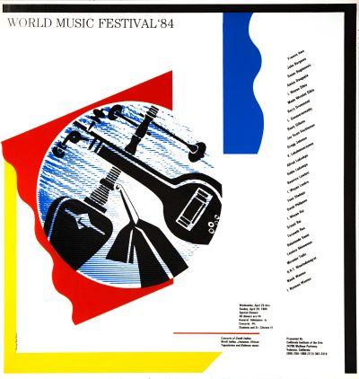 CalArts poster: World Music Festival '84 by Robert Burns