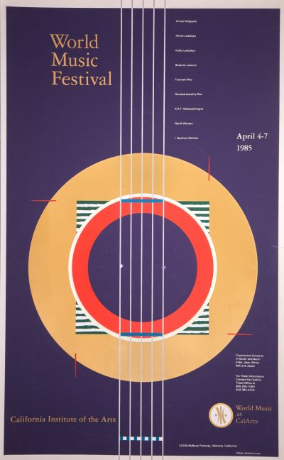 CalArts poster: World Music Festival '85 by Jonathan Louie