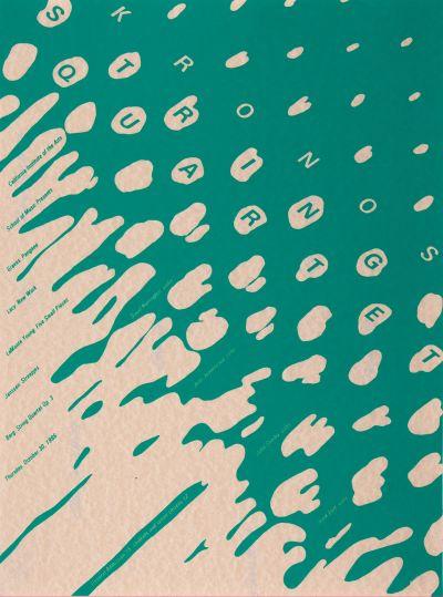CalArts poster: 1986 Kronos String Quartet by