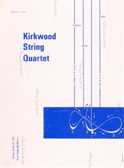 CalArts poster: Kirkwood String Quartet by Noreen Morioka