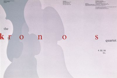 CalArts poster: The Kronos Quartet by