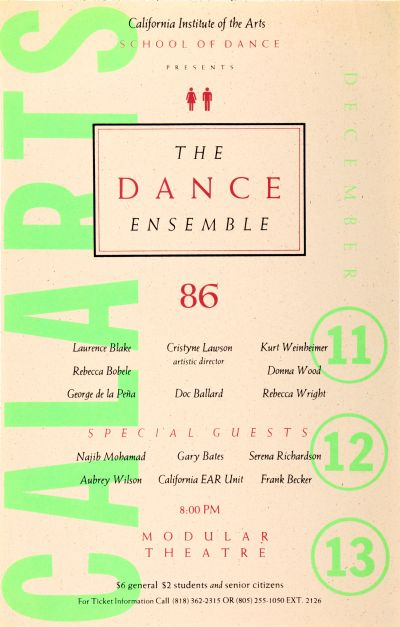 CalArts poster: CalArts Dance Ensemble by Jeff Keedy
