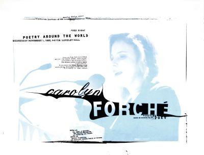CalArts poster: Carolyn Forche: Visiting Poet by Joel Decker