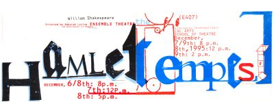 CalArts poster: Hamlet Tempest by