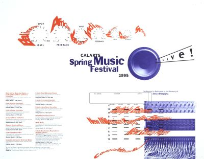 CalArts poster: 1995 CalArts Spring Music Festival by Caryn Aono