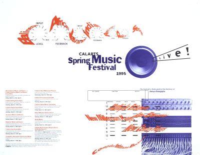CalArts poster: 1995 CalArts Spring Music Festival by Caryn Aono