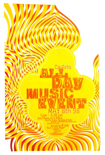 CalArts poster: CalArts All Day Music Event by Andrea Tinnes