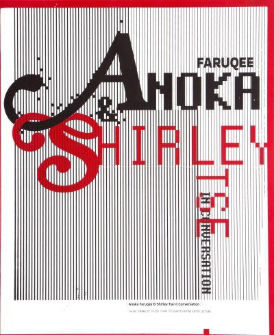 CalArts poster: Anoka Faruqee & Shirley Tse in Conversation by Jin Son