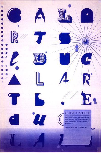 CalArts poster: CalArts.Edu by Joel Evey