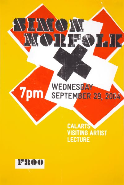 CalArts poster: Simon Norfolk by Eli Carrico