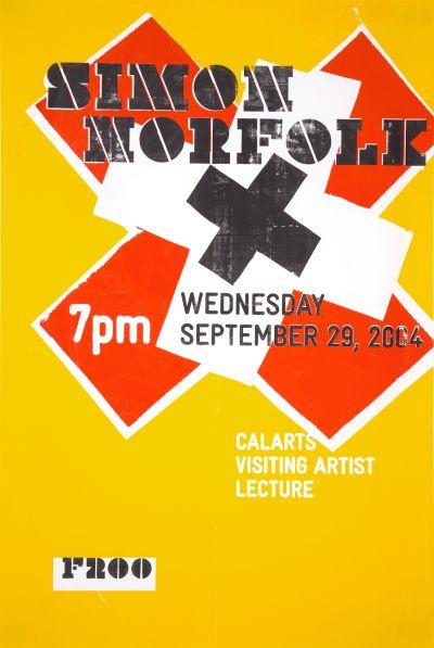 CalArts poster: Simon Norfolk by Eli Carrico