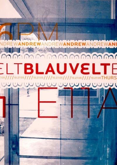 CalArts poster: Andrew Blauvelt by Jin Son Maja Blazejewska