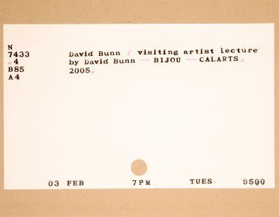 CalArts poster: David Bunn by Alisa Benfey