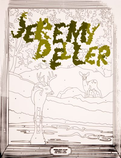 CalArts poster: Jeremy Deller by Katie Hanburger