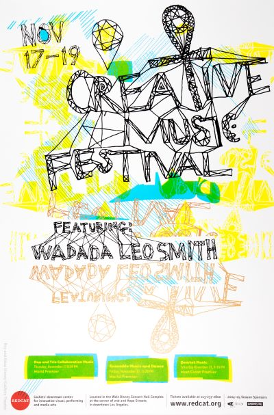 CalArts poster: REDCAT: Creative Music Festival by Colin Graham Justin O'Brien