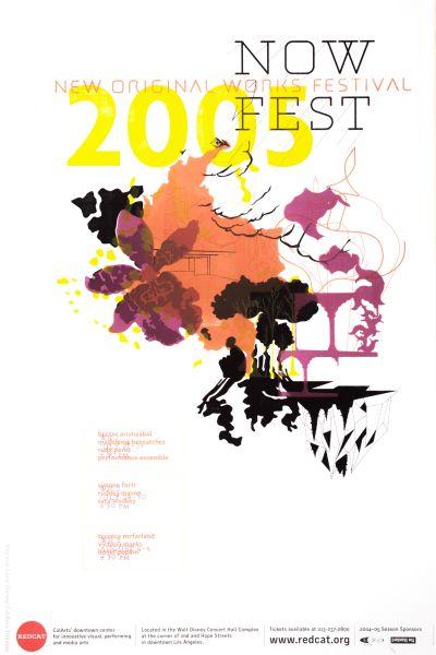 CalArts poster: REDCAT: NOW Fest by Haezeline Go