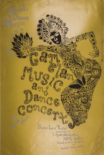 CalArts poster: Gamelan Music and Dance Concert by