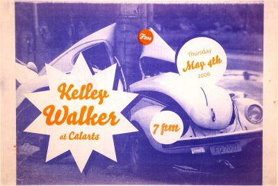 CalArts poster: Kelley Walker by