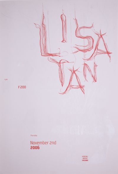 CalArts poster: Lisa Tan by Christine Lee Gundula Prinz