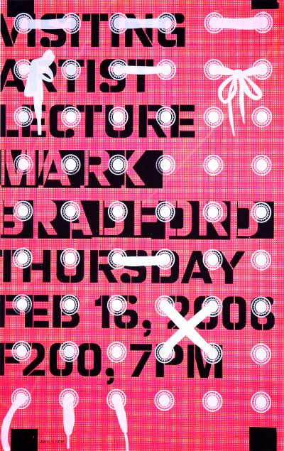 CalArts poster: Mark Bradford by Ching Wang Jeremy Landman