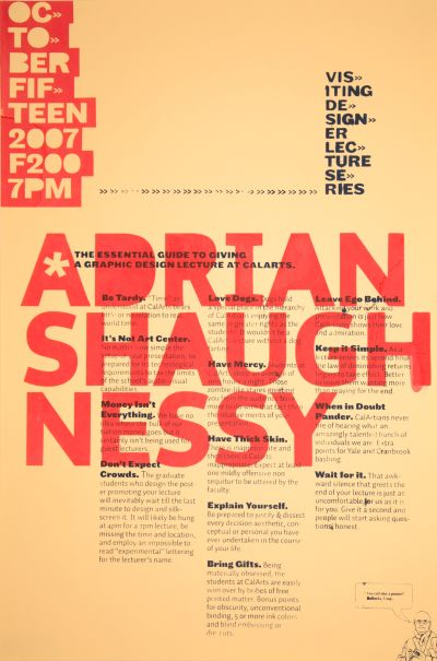 CalArts poster: Adrian Shaugh Nessy by Joseph Prichard N. Silas Munro