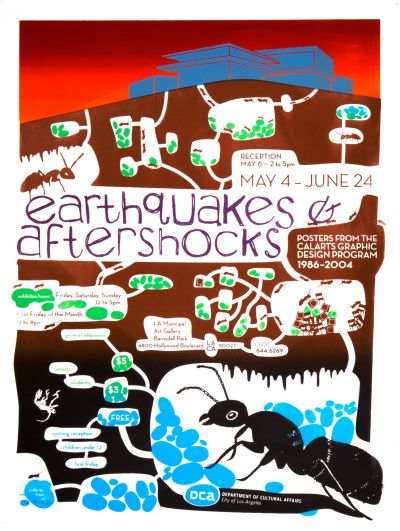 CalArts poster: Earthquakes & Aftershocks by Bruce Sachs