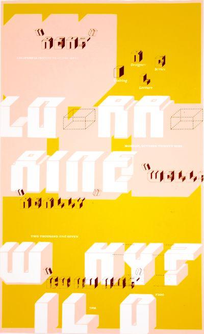 CalArts poster: Lorraine Wild by N. Silas Munro
