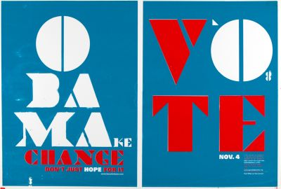CalArts poster: Vote Obama: Make Change by Manuel Garcia