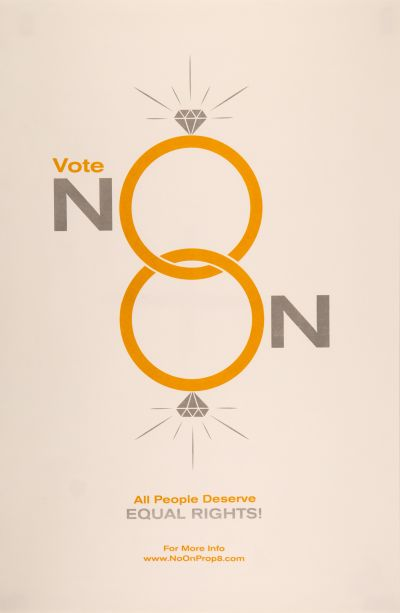 CalArts poster: Vote No On Prop 8: All People Deserve Equal Rights! by Jesse Lee Stout