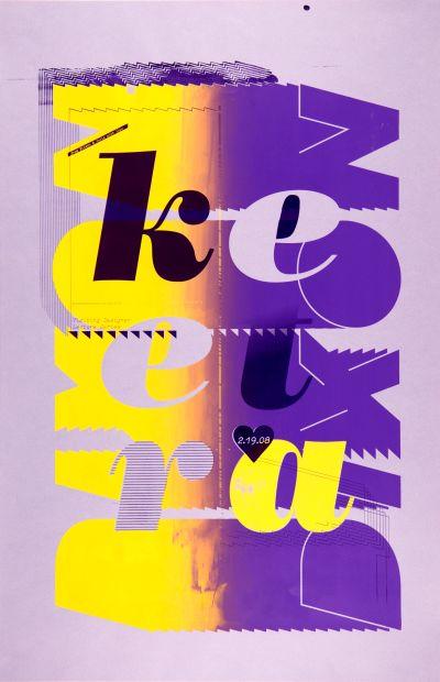 CalArts poster: Keetra Dixon by Eileen Levinson Julie Mattei